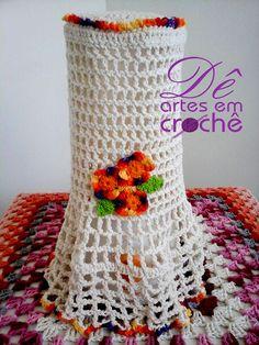 Capa pra Liquidificador em Crochê, by Dê Artes em Crochê.