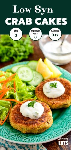 Delicious fresh low syn crab cakes for a lovely light lunch or main course with some additional sides. Slimming World and Weight Watchers friendly