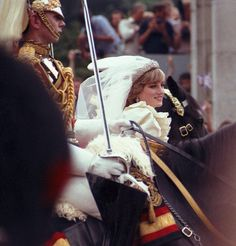 July Lady Diana Spencer married Prince Charles at St. Paul's Cathedral - now the Prince and Princess of Wales. Charles And Diana Wedding, Princess Diana Wedding, Prince Charles And Diana, Princess Of Wales, Prince And Princess, Prince Harry, Royal Wedding Gowns, Royal Weddings, Lady Diana Spencer