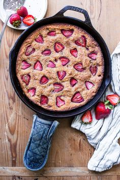 Cake as a snack? Sign us up! This gluten-free cake with strawberries is great as a breakfast, snack, or dessert. Recipe by Bakerita. #californiastrawberries #snackingcake #glutenfreedesserts #glutenfreecake #strawberrycake #gfrecipes #glutenfree #bakingathome Coconut Sugar, Coconut Flour, Almond Flour, Strawberry Syrup, Strawberry Cakes, Gluten Free Cakes, Gluten Free Desserts, Dairy Free Milk, Gf Recipes