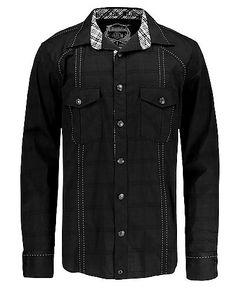 $43.60 Buckle Black Break It Down Button Front Shirt