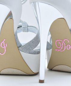 Look what I found on #zulily! Pink Rhinestone 'I Do' Wedding Shoe Appliqué Stickers - Set of Two #zulilyfinds