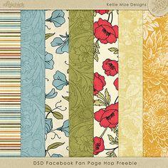 Paper pack freebie from Kellie Mize Designs #digiscrap #scrapbooking #digifree…