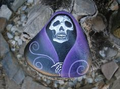 MAGIC in the GARDEN one of a kind painted rock by MyGardenRocks
