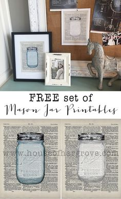 Get a FREE set of these adorable mason jars on the blog!  Comes in blue or…