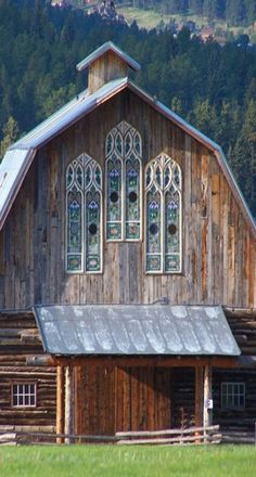 Big Barn with Stain Glass Windows. (Beautiful)