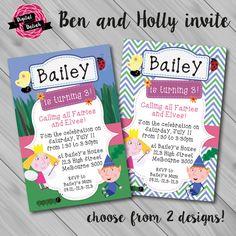 Ben and Holly Little Kingdom Invitation. Choose by DigitalDaliah