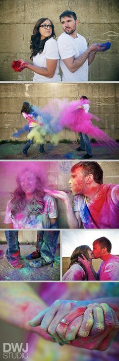 Color engagement shoot. This looks like so much fun