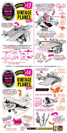 How to draw PLANES + FLYING MACHINES tutorial by STUDIOBLINKTWICE on DeviantArt