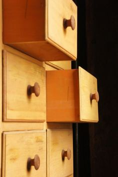drawers - as in furniture, not underpinnings.