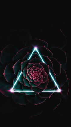 Neon Triangle Flower IPhone Wallpaper - IPhone Wallpapers