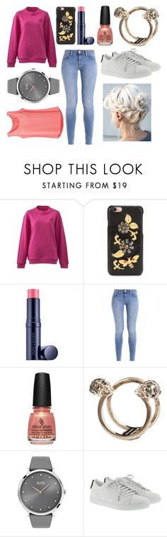 """OOTD"" by hailey-smith-13 ❤ liked on Polyvore featuring McQ by Alexander McQueen, Dolce&Gabbana, Estée Lauder, China Glaze, Alexander McQueen, BOSS Black, Yves Saint Laurent and prAna"