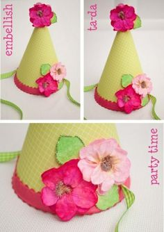 party hats for kids | Party hat tutorial