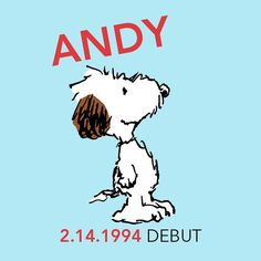 """Charles M. Schulz Museum on Instagram: """"Andy first appeared in Peanuts 25 years ago today in a strip published on February 14, 1994. Andy is another of Snoopy's brothers and…"""" 25 Years Ago Today, Peanuts Characters, Fictional Characters, Snoopy Family, Joe Cool, February 14, Peanuts Snoopy, Adele, Backgrounds"""