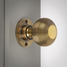 Looking for antique brass door handles? We have solid brass beehive door knobs in antique & polished brass, nickel and chrome finishes. Sold as a pair with fittings. Antique Brass Door Handles, Bronze Door Knobs, Black Door Handles, Interior Door Knobs, Black Interior Doors, Black Doors, Wooden Door Hangers, Wooden Doors, Welcome Signs Front Door