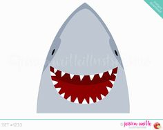 Instantánea descargar feliz tiburón lindo Digital Clipart