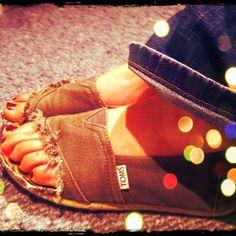 DIY toms sandals :) @Breanna Newbill stevens