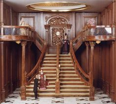 The grand staircase of the Titanic in miniature....