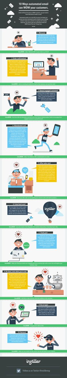 What Are 10 Ways You Can Give Your Automated Emails The Wow Factor? #infographic