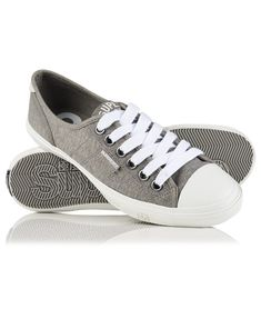 Designer Clothes, Shoes & Bags for Women Grey Sneakers, Canvas Sneakers, Grey Shoes, Shoes Sneakers, Lace Shoes, Plimsolls, Superdry, Trainers, Sportswear