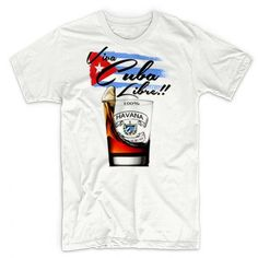 Viva Cuba Libre T-Shirt A Toast To Freedom Cuban Liberty Fidel Castro Cotton Tee
