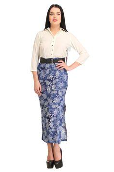 8a0f2fd0852 Cottinfab Long Printed Dress With Slit -Fulpy Social Shopping