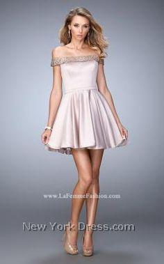 Bubbly Beauty Shimmering Cocktail Dress by La Femme 22105