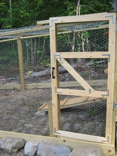 Great gate for chicken coop or goat yard.