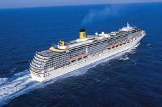 Cruiser Costa Atlantica Costa Atlantica, Around The World Cruise, Carnival Corporation, American Pride, Travel And Tourism, Luxury Travel, Around The Worlds, Boat, Waterfalls