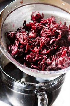 Hibiscus Tea – Brewed at Home From Dried Hibiscus Flowers   Cupcake Project