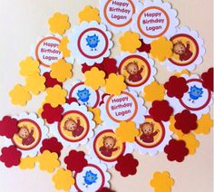 Daniel Tiger Centerpiece by PrettyPeacockPartys on Etsy