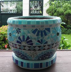 mosaic flower pot