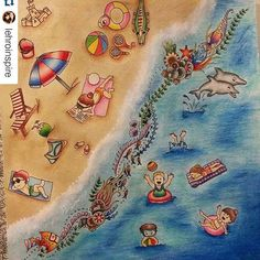 Instagram media desenhoscolorir - Amei a praia da  @lehroinspire by  @letccunha  #desenhoscolorir  #florestaencantada #jardimsecreto #johannabasford #oceanoperdido #lostocean