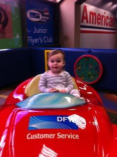 Tips for flying with toddlers - links to airport play areas