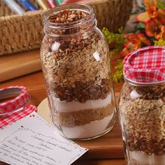 Caramel Oatmeal Cookie Mix in A Jar