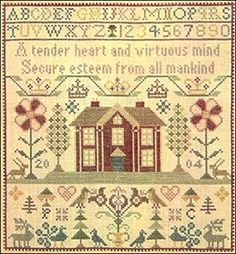 Traditional Cross Stitch Samplers | TENDER HEART SAMPLER CHART-CROSS STITCH PLC TRADITIONAL SAMPLERS