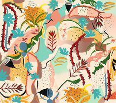 abstract organic garden - irina muñoz clares | fashion graphics + illustration