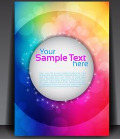 Fantastic Magazine Flyer Template with Colorful