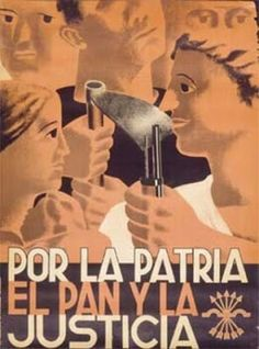 For the country, bread and justice. Nationalist poster issued during the Spanish Civil War. Nationalist Head Office of Press and Propaganda Poster Section, publishers. Spanish War, Propaganda Art, Political Posters, Poster Design Inspiration, German Army, Killed In Action, Poster On, Civilization, Vintage Posters