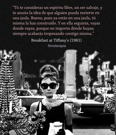 40 Trendy breakfast at tiffanys frases quotes Audrey Hepburn, Gossip Girl, New York Socialites, Smart Quotes, Breakfast At Tiffanys, Magic Words, Film Quotes, S Quote, Fashion Quotes