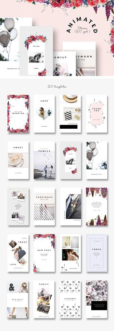 ANIMATED Instagram Stories - Wedding by CreativeFolks on @creativemarket