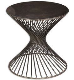 "Industrial ""Twist"" Side Table  @flea_pop"