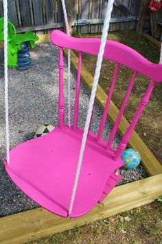 This swing is a cute idea... it encourages me to think out of the box for a play area outside for the girls