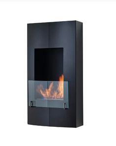 Wall Mount Ethanol Fireplace Heater Burner Stainless Steel Glass Indoor Outdoor #EthanolFireplaces