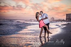 Amanda and Geo decided to make a last minute appointment to take advantage of the amazing weather we had at the beach. This awesome couple is planning a wedding this year at the Rams Ram's Head Inn in Galloway. I had an awesome time getting to know them and playing on the beach while watching an killer sunset.  www.shaunreillyphotography.com