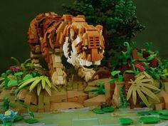 Eye of the Tiger- Zoo Lego, Legos, Lego Structures, Lego Sculptures, Cool Lego Creations, Lego Models, Pokemon, Custom Lego, Lego Instructions