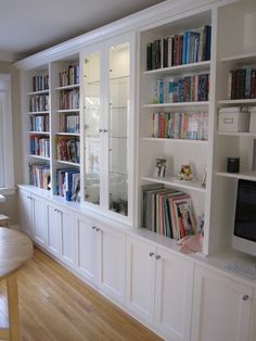 built in shelves - Google Search