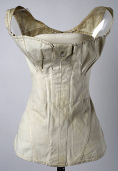 Corset    Date:      ca. 1811  Culture:      American  Medium:      cotton