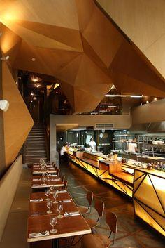 Chef's Table contemporary restaurant, Manila, Philippines by Buensalido Architects
