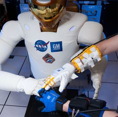 "The joint research around Robonaut's manipulators led to an ""unprecedented level of hand dexterity,"" according to NASA. A critical part of Robonaut's design was to be able to ""operate tools designed for humans, alongside astronauts in outer space and factory workers on Earth."""
